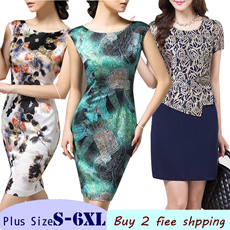 [Over RM79 Free Shipping] S-6XL Marie Curie Fashion mother dress Grade quality Middle-aged clothing Plus Size dress