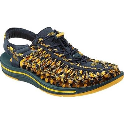 ◆即納◆キーン(KEEN) MEN UNEEK 8MM メンズ ユニーク エイトミリメーター MIDNIGHT-NAVY/SPECTRA-YELLOW 1013241 【おしゃれ サンダル シューズ 靴】【SNDL15】の画像