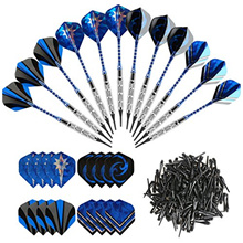 GWHOLE 18g Soft Dart with 16 Dart Flights and 200 Dart Soft Tip Points for Electronic Dartboard, Set