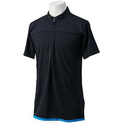 ◆即納◆★セール★アディダス(adidas) SWIFT クライマチル ハーフジップ Tシャツ ADJ GYT54 S22521 チルBLKメランジ 【スポーツ ランニング トレラン 登山 トレーニング】の画像