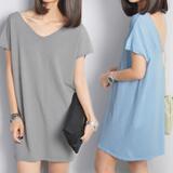 Casual Dress~ Knit Dress V Neck~ Wrap ~ Linen Short Sleeve Sleeveless