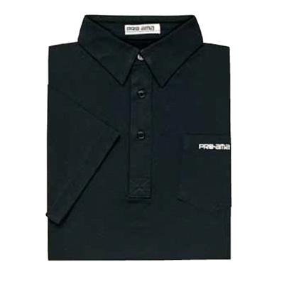 ABS(アメリカン ボウリング サービス) プレーン ポロシャツ P-548 ブラック 【Pro-ama ボウリングウェア メンズ レディース ボーリング】の画像