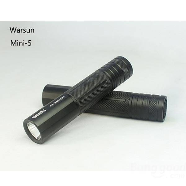 【クリックで詳細表示】Warsun Mini-5 CREE XM-L2 650lm Mini LED Flashlight 18650