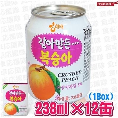 【送料無料】ヘテ おろし桃ジュース 238ml×12缶 1Box 韓国食品 飲料の画像