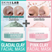 PORE MASK ◆ Glacial Clay / Pink Clay / Pore care  / Acne treat  / Brightening / Soothing