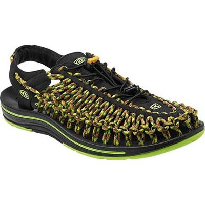 ◆即納◆キーン(KEEN) MEN UNEEK メンズ ユニーク BLACK/GREEN-GLOW 1013889 【おしゃれ サンダル シューズ 靴】【SNDL15】の画像