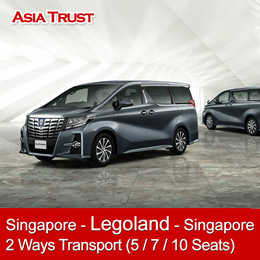Singapore to Legoland 2 ways Exclusive Transport / Pickup from your location / 5 / 7 / 10 Seats Car
