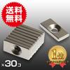 小さく薄い 超強力 30個セット丸型皿穴付 ネオジウム磁石 マグネット 20mm×10mm×3mm ネジ4mm 鳩よけ DIY