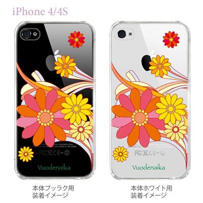 【Vuodenaika】【iPhone4/4Sケース】【カバー】【スマホケース】【クリアケース】【フラワー】 21-ip4-ne0006caの画像