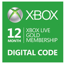 Brand New Microsoft Xbox Live Gold 12 Month Subscription Digital Code for Xbox 360 Xbox One