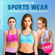 *Click for Star Buy Promotions*Get Fit Burn those FATS!* Premium Ladies Sports [Medium - High support] Yoga Bra/Gym Wear/Capris/Shorts/Running Bra