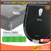 [▼-$67.00] Dibea D960 D-Master Robot Vacuum Cleaner with Water Tank . Singapore Safety Mark