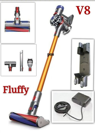 qoo10 dyson v8 fluffy new generation cordless vacuum. Black Bedroom Furniture Sets. Home Design Ideas
