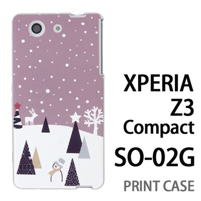 XPERIA Z3 Compact SO-02G 用『1210 雪景色 灰』特殊印刷ケース【 xperia z3 compact so-02g so02g SO02G xperiaz3 エクスペリア エクスペリアz3 コンパクト docomo ケース プリント カバー スマホケース スマホカバー】の画像