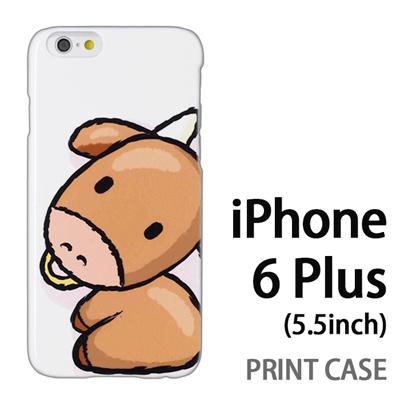 iPhone6 Plus (5.5インチ) 用『0723 干支 丑』特殊印刷ケース【 iphone6 plus iphone アイフォン アイフォン6 プラス au docomo softbank Apple ケース プリント カバー スマホケース スマホカバー 】の画像