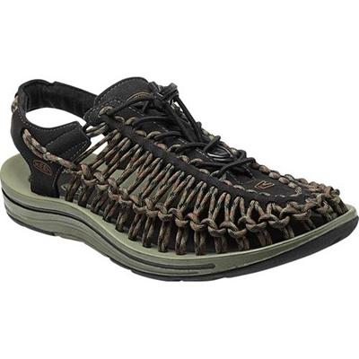 ◆即納◆キーン(KEEN) MEN UNEEK メンズ ユニーク BLACK/BURNT-OLIVE 1013890 【おしゃれ サンダル シューズ 靴】【SNDL15】の画像