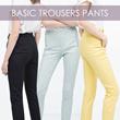 [New] Basic Office Style Pants Spring Colors / Premium Quality / Sexy Celana panjang celana wanita pakaian batik baju gamis busana muslim lingerie celana dalam wanita baju tidur