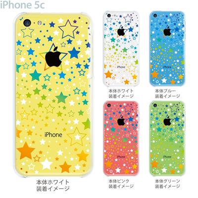 【iPhone5c】【iPhone5c ケース】【iPhone5c カバー】【iPhone ケース】【クリア カバー】【スマホケース】【クリアケース】【イラスト】【クリアーアーツ】【スター】 09-ip5c-sn0005の画像