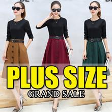 【 GRAND SALE】600+ style S-7XL NEW PLUS SIZE FASHION LADY DRESS OL work dress blouse TOP