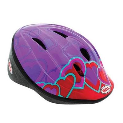 ベル(BELL) BELLINO/ベリーノ ヘルメット 自転車 サイクリング KIDS&YOUTH キッズ ハートカラーブロック XS 48-52 7040930 【子供 安全 スケート 女の子 男の子】の画像