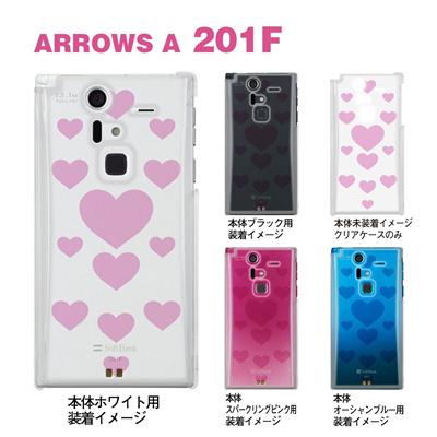 【ARROWS ケース】【201F】【Soft Bank】【カバー】【スマホケース】【クリアケース】【クリアーアーツ】【トランスペアレンツ】【カラーズ・ピンク】【ビッグハート】 06-201f-ca0031l-pの画像