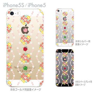 【iPhone5S】【iPhone5】【iPhone5sケース】【iPhone5ケース】【カバー】【スマホケース】【クリアケース】【クリアーアーツ】【フラワー】 09-ip5s-ca0034の画像