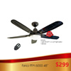 Fanco FFM 6000 48 inch Ceiling Fan / 1077 Light Kit and Original Fanco Remote. FREE INSTALLATION