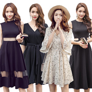 【BIG PROMO】Black Dresses/Korean style Slim dress/Sexy/Strapless/Halter/Little black dress