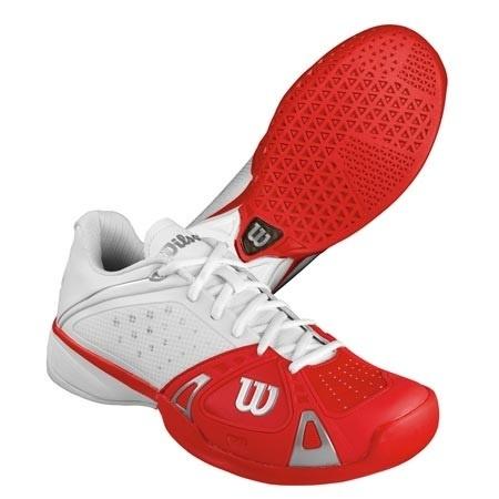 【クリックで詳細表示】ウィルソン(WILSON) ラッシュプロ HC(RUSH PRO HC) WH/RD/WH WRS318650U 【テニスシューズ ハード・カーペットコート メンズ】
