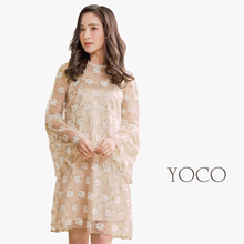 YOCO - Floral Laced Dress with Camisole-180117