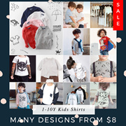 ❤ 22/6 NEW ❤SALE $9.90 Shirts for 1-10Y / Made in Korea Stars Shirts / US fashion kids clothes