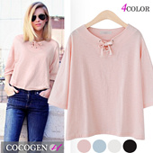[12 TYPE]1654★ Best New Product ★Special Price [fast Shipping]♥ Trendy items / High Quality / pleated / round neck / T-shirt / blouse