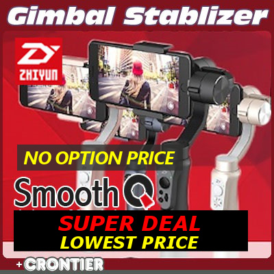 SUPER DEAL!! ZHIYUN SMOOTH Q GIMBAL STABLIZER 3-Axis Yuntai Gyroscope Wisdom Mobile Phone/CRONTIER Deals for only S$259 instead of S$0