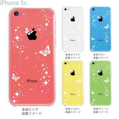 【iPhone5c】【iPhone5c ケース】【iPhone5c カバー】【iPhone ケース】【クリア カバー】【スマホケース】【クリアケース】【イラスト】【クリアーアーツ】【蝶】 09-ip5c-sn0007の画像