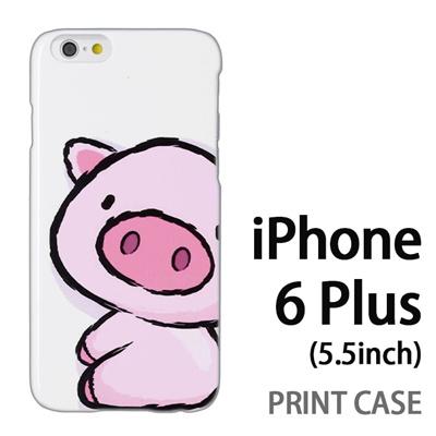 iPhone6 Plus (5.5インチ) 用『0723 ブタちゃん』特殊印刷ケース【 iphone6 plus iphone アイフォン アイフォン6 プラス au docomo softbank Apple ケース プリント カバー スマホケース スマホカバー 】の画像