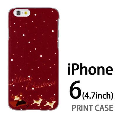 iPhone6 (4.7インチ) 用『1221 メリークリスマス 赤』特殊印刷ケース【 iphone6 iphone アイフォン アイフォン6 au docomo softbank Apple ケース プリント カバー スマホケース スマホカバー 】の画像