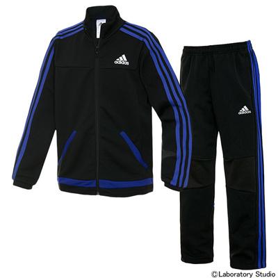 アディダス (adidas) KIDS 強ジャー ジャージ 上下セット(ブラック×ナイトフラッシュ) KBY23-A97242-KBY25-A97233 [分類:ジャージ 上下セット (ジュニア)] 送料無料の画像