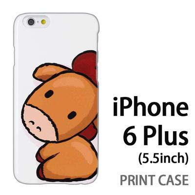 iPhone6 Plus (5.5インチ) 用『0723 干支 午』特殊印刷ケース【 iphone6 plus iphone アイフォン アイフォン6 プラス au docomo softbank Apple ケース プリント カバー スマホケース スマホカバー 】の画像
