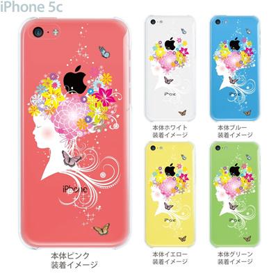 【iPhone5c】【iPhone5c ケース】【iPhone5c カバー】【ケース】【カバー】【スマホケース】【クリアケース】【クリアーアーツ】【少女と花】 09-ip5c-th006の画像