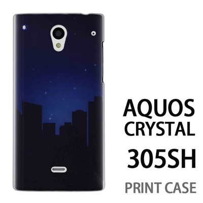 AQUOS CRYSTAL 305SH 用『No3 都会の夜』特殊印刷ケース【 aquos crystal 305sh アクオス クリスタル アクオスクリスタル softbank ケース プリント カバー スマホケース スマホカバー 】の画像