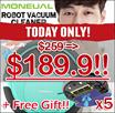 ★FREE +5 Rags!!★ [Vacuum + Damp Cloth!!] MONEUAL PREMIUM Robot Smart Vacuum Cleaner - MINT Ready -
