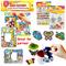 Suncatcher Photo Frame Suncatcher Keychain] Children Art and Craft Painting Kit Window Deco