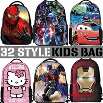 Kids School Shoulder Bag Child handbag SpiderMan Kongfu Panda Peppa Pig Minion Transformer