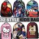 Kids School Shoulder Bag Luggage Child handbag SpiderMan Kongfu Panda Peppa Pig Minion Transformer