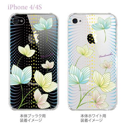 【Vuodenaika】【iPhone4/4Sケース】【カバー】【スマホケース】【クリアケース】【フラワー】 21-ip4-ne0026caの画像