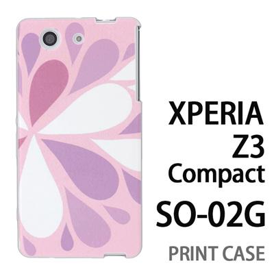 XPERIA Z3 Compact SO-02G 用『1215 コミカル雪結晶 ピンク』特殊印刷ケース【 xperia z3 compact so-02g so02g SO02G xperiaz3 エクスペリア エクスペリアz3 コンパクト docomo ケース プリント カバー スマホケース スマホカバー】の画像