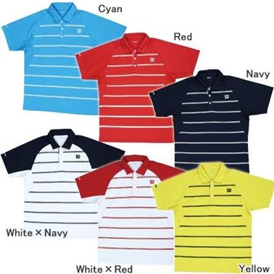 ◆即納◆ウィルソン(WILSON) ゲームシャツ(Game Shirt) WRJ4002 【テニスウェア メンズ レディース】の画像