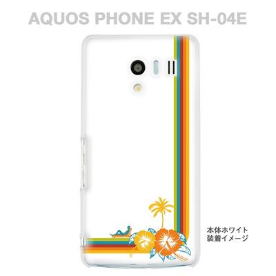 【AQUOS PHONE EX SH-04E】【IGZO】【イグゾー】【ケース】【カバー】【スマホケース】【クリアケース】【クリアーアーツ】【夏のパラダイス】 08-sh04e-ca0069の画像