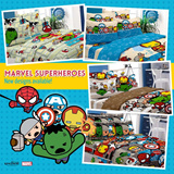 MARVEL BEDSHEET / KAWAII SUMMER BLANKET + AVENGERS ASSEMBLE KAWAII COLLECTION BEDSHEET