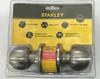 Stanley Cylinder Door Lock Stainless Steel (DIY) Easy to replace for room door
